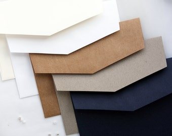 High-quality premium paper envelopes, all colors available, matt or metallics, iflap, kraft, navy white botany envelopes, x1 envelope white