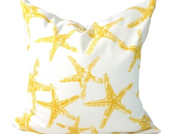 BEACH Decor, Yellow Pillows, Pillow Cover, Decorative Pillow, Throw Pillow, Pillows, Accent Pillow, Pillow Covers, All Sizes, Euro, Cushion
