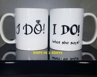 Couples Mugs, Mr and Mrs Mugs, His and Hers Mugs, Wedding Gift, Wedding Present, Bride and Groom Gift, Mrs Mug, Mr Mug, Coffee Mug