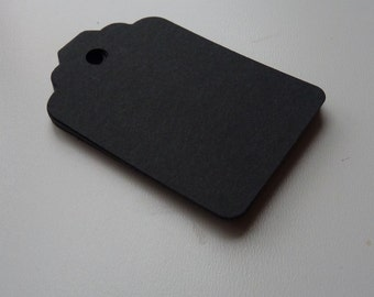 medium size matte black colour plain card price hang gift tags