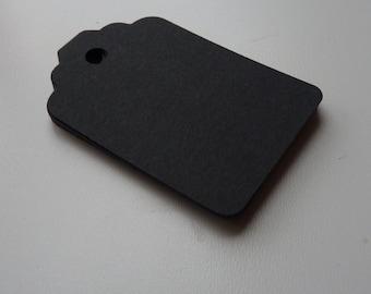 medium size matte black colour plain card price hang gift tags