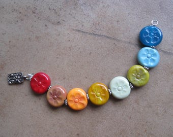 Lampwork Beads - SueBeads - Round Beads - Round Bead Set - Moroccan -Glass Bead Set - Handmade Lampwork Beads - SRA M67