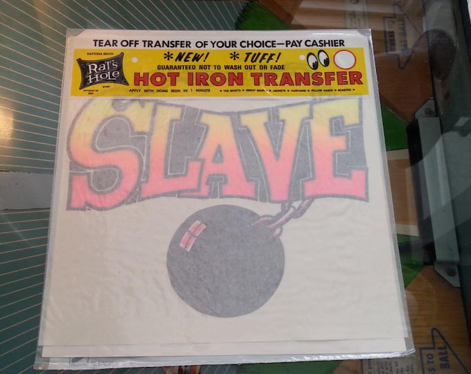 Vintage Iron On Transfer Slave