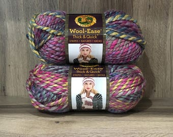 Lion Brand Wool-Ease Thick & Quick Astroland Yarn