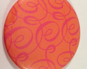 Orange and Pink Swirl Pocket Mirrors