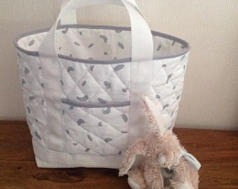 Tote around baby feather