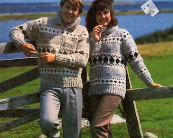 Cowichan Style Zip Up or Pullover Sweater #6102 PDF Pattern