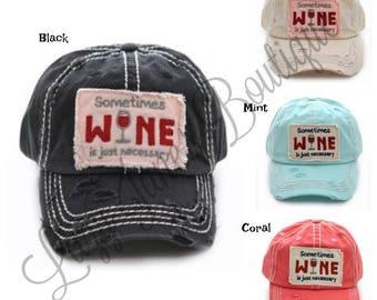 Sometimes Wine Vintage Hats