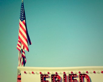 Food photography carnival photo red white and blue american flag old glory autumn fair red letter Carnival Photo Fried 5x5