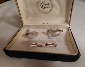 Swank Vintage Cuff Links and Tie Clip