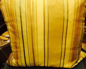 Pair of Silk Stripe Pillows
