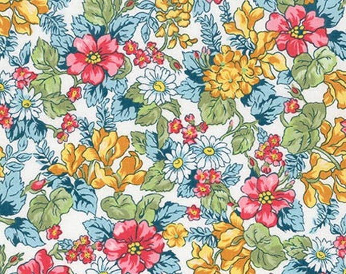 London Calling Lawn 6 - Floral Spring- 1/2 yard