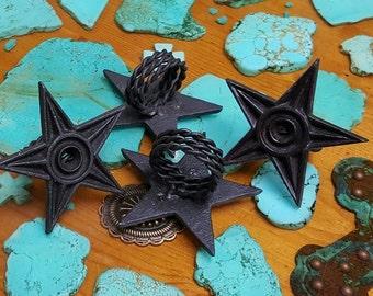 4 Cast Iron Star Napkin Rings (Set of 4)