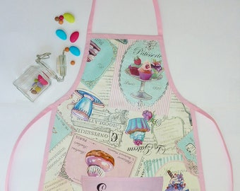 Apron patterns pastries for children