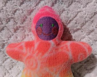 Handmade Whimsical Star Baby - Stuffed Plush Doll Softie