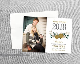 christmas pregnancy announcement new year card new year