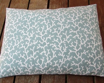 Pet Bed Cover Duvet, Teal Coral Print, Canine Cloud Dog Bed Cover 24 x 18, Pet Furniture, Gift