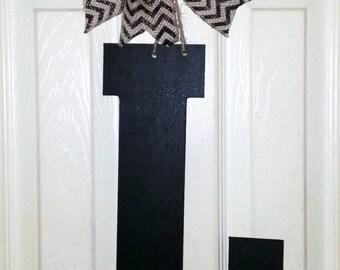Letter L door hanger Initial Letter for front door monogram for front door wood letter L door hanger Letter L wreath black letter L & Letter l door hanger | Etsy
