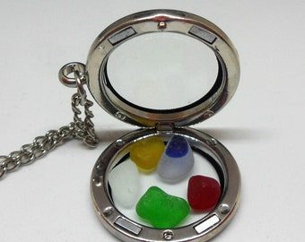 Lovely Memory Locket with Sea Glass