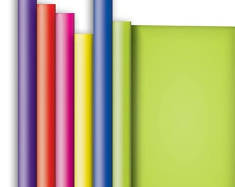 Jillson & Roberts Solid Color Matte Gift Wrap Roll Assortment, Primary (6 Rolls)
