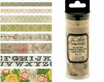 Tim Holtz Idea-ology 8 pc Designer Washi Tape Sets ~Rose~