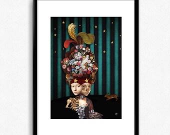 SIAMESES - Digital collage Illustration