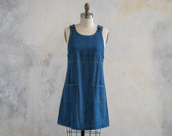 Vintage 1990s Overall Swing Dress