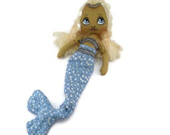 Mermaid baby doll - Mermaid unicorn birthday - Baby shower toy - Mermaid doll for girl - Little mermaid baby toy - Baby shower mermaid toy