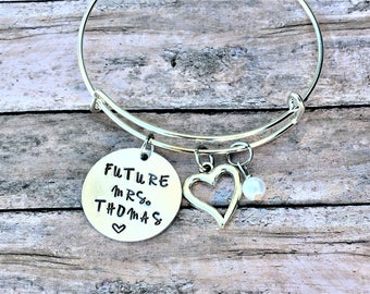 Bridal Shower Gift - Future Mrs - Gift for Bride - Engagement Gift - Personalized Engagement Gift - Bride to Be - Wedding Jewelry