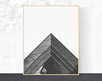 Architectural photo, Architectural Print, Wall Art, Black and White Photography, Minimalist Art, Digital Download, Geometric print, Decor