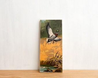Paint by Number style Art Block 'Mallard' - marsh, outdoors, hunting, ducks
