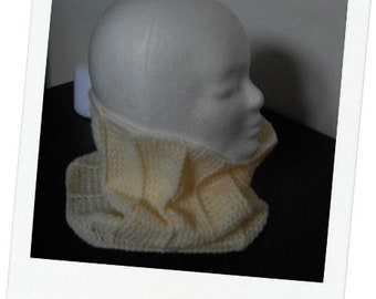 Unisex mixed Snood - hand crocheted soft neck wool