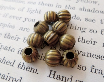 10x Brass Spacer Metal Beads, Charm, Findings, Jewellery Making P52
