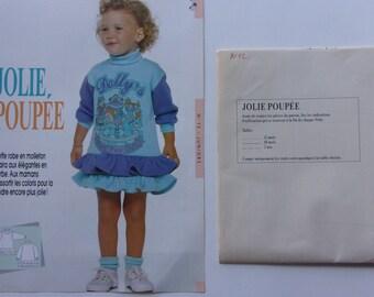 dress pattern sewing passion - fleece ruffle girl REF.  12