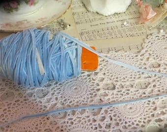 5 yards Baby BLUE Velvet Ribbon Trim