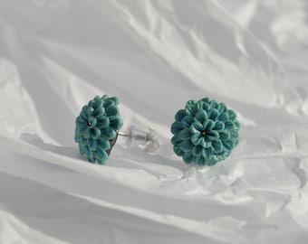 Flower Power Clay Earrings Hydrangea