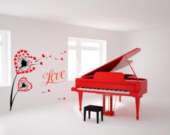 Love Wishing Flower Removable Wall Art Wall Decor Decal Vinyl Sticker Mural Romantic Valentine