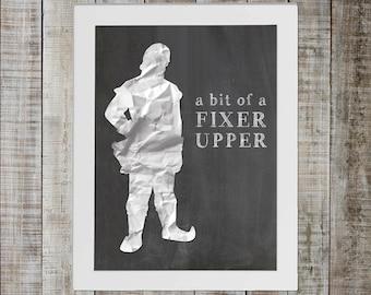 Kristoff Frozen Pop Culture Print - 'a bit of a fixer upper'