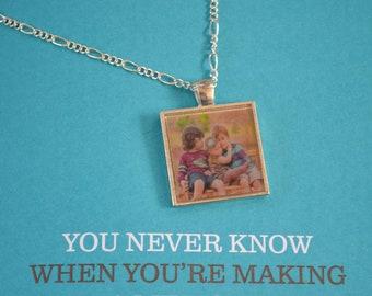 Custom Photo Charm Pendants, Photo Pendant, Photo Charms, Custom Photos, Photo Jewelry, Photo Necklace, 1 inch Pendant Trays, Square Pendant