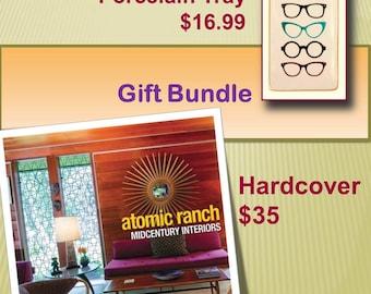 Atomic Ranch Book & Porcelain Tray