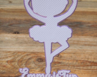 CLEARANCE. Ballerina 'Emma is Two' Cake Topper.
