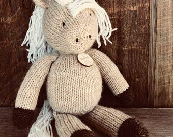 Unicorn Plush Eco Kids Toy Stuffed Animal Natural Eco Friendly Heirloom Quality Ready to Ship Gift Eunice the Unicorn