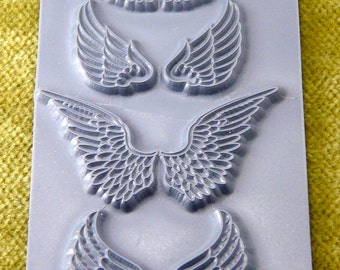 ANGEL WINGS Texture Rubber Stamp TTL-724