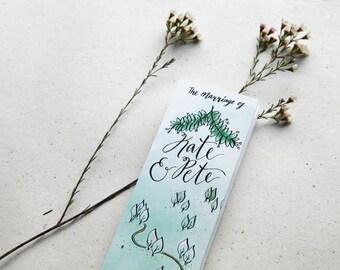 Custom Illustrated Programme - Unique Wedding Stationery