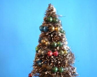 Vintage Mid Century Christmas Decoration - Large Bottle Brush Christmas Tree