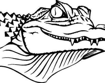 Alligator Die-Cut Decal Car Window Wall Bumper Phone Laptop