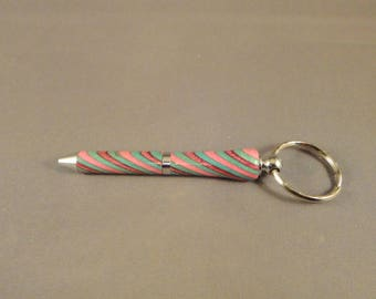 Mini Key Chain Pen - Laminated Wood