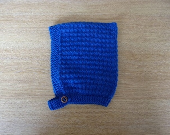 Royal Blue Toddlers Hand Knitted Pixie Hat Size 12 ~ 18months