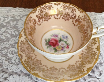 Paragon Cup and Saucer, By Appointment to HM the Queen and Queen Mary
