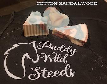 Cotton Sandalwood Soap/ Scented Soap/ Handmade Soap